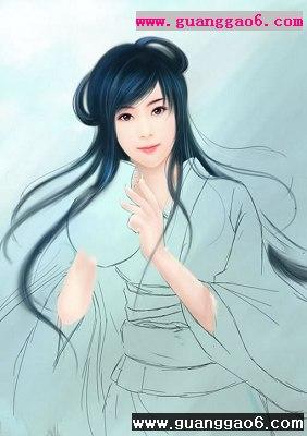 painter结合photoshop绘古典美女