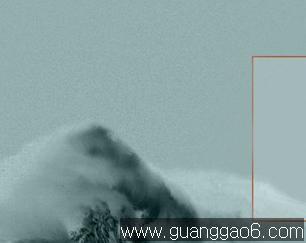 灰绿色淡雅雪山 风景风光ppt模板